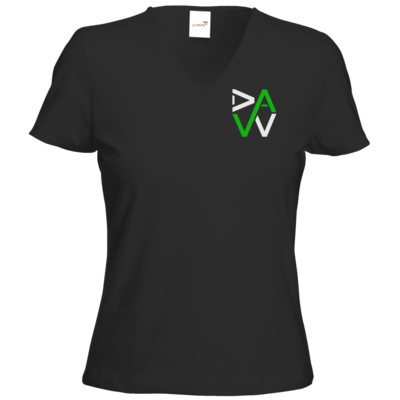 Motiv: T-Shirts Damen V-Neck FAIR WEAR - DaW-Logo Grün