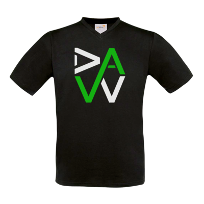 Motiv: T-Shirt V-Neck FAIR WEAR - DaW-Logo Grün