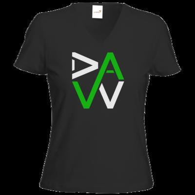 Motiv: T-Shirt Damen V-Neck Classic - DaW-Logo Grün