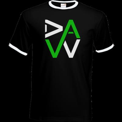 Motiv: T-Shirt Ringer - DaW-Logo Grün