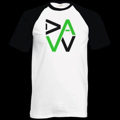 Motiv: TShirt Baseball - DaW-Logo Grün
