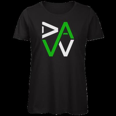Motiv: Organic Lady T-Shirt - DaW-Logo Grün