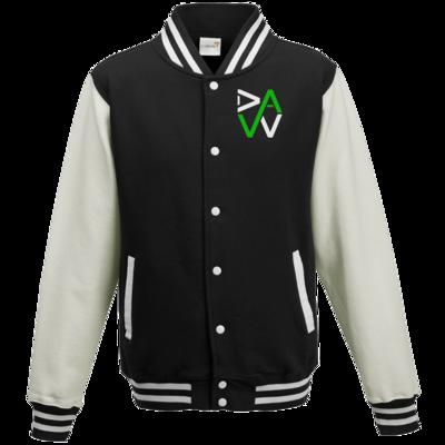 Motiv: College Jacke - DaW-Logo Grün