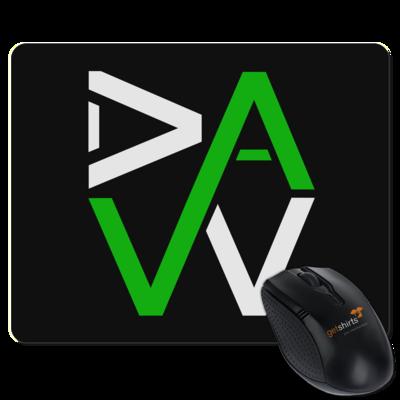 Motiv: Mousepad Textil - DaW-Logo Grün