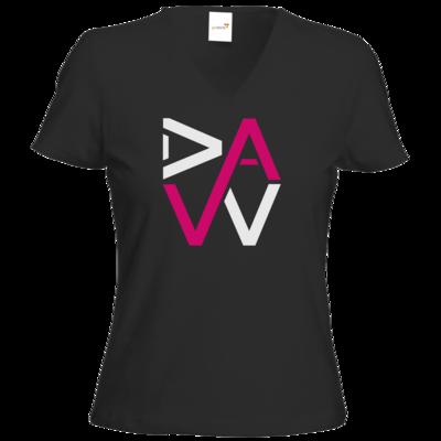 Motiv: T-Shirt Damen V-Neck Classic - DaW-Logo Pink