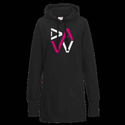 Motiv: Lady Longline Hoodie - DaW-Logo Pink