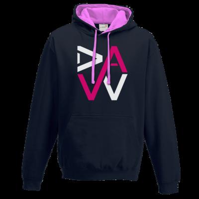 Motiv: Two-Tone Hoodie - DaW-Logo Pink
