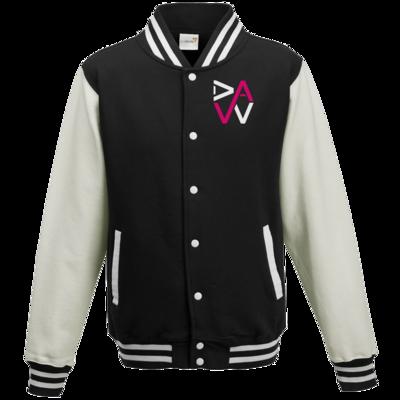 Motiv: College Jacke - DaW-Logo Pink
