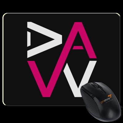 Motiv: Mousepad Textil - DaW-Logo Pink