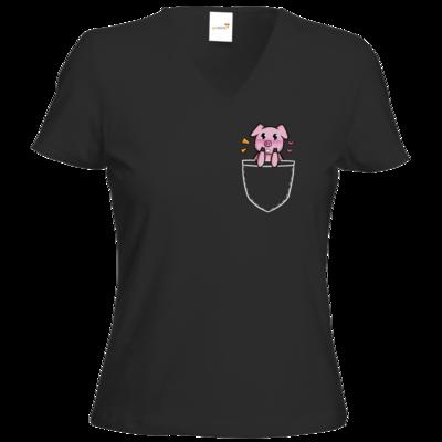 Motiv: T-Shirts Damen V-Neck FAIR WEAR - Cute