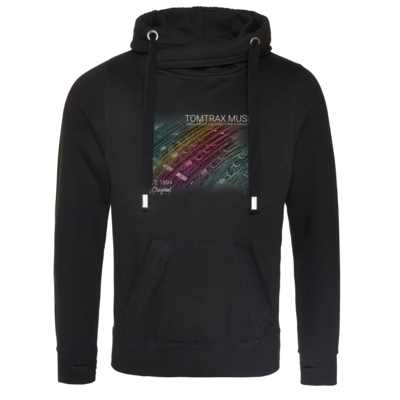 Motiv: Cross Neck Hoodie - Tomtrax Music Pioneer
