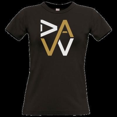 Motiv: T-Shirt Damen Premium FAIR WEAR - DaW-Logo Gold