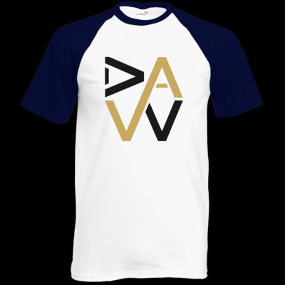 Motiv: Baseball-T FAIR WEAR - DaW-Logo Gold