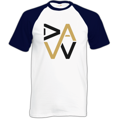 Motiv: Baseball-T FAIR WEAR - DaW-Logo Gold