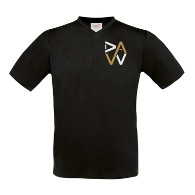 Motiv: T-Shirt V-Neck FAIR WEAR - DaW-Logo Gold