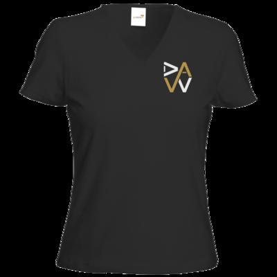 Motiv: T-Shirt Damen V-Neck Classic - DaW-Logo Gold