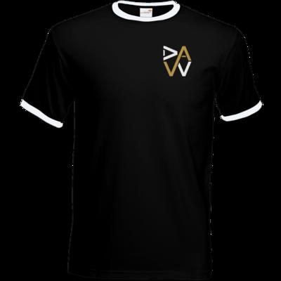 Motiv: T-Shirt Ringer - DaW-Logo Gold