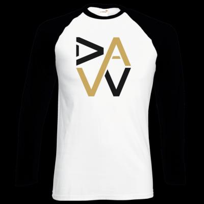 Motiv: Longsleeve Baseball T - DaW-Logo Gold