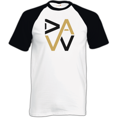 Motiv: TShirt Baseball - DaW-Logo Gold