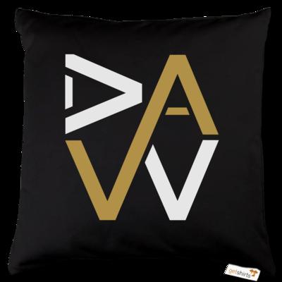 Motiv: Kissen Baumwolle - DaW-Logo Gold