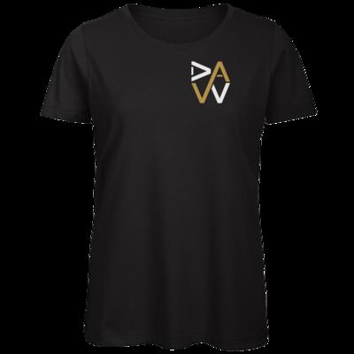 Motiv: Organic Lady T-Shirt - DaW-Logo Gold