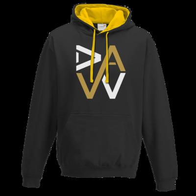 Motiv: Two-Tone Hoodie - DaW-Logo Gold