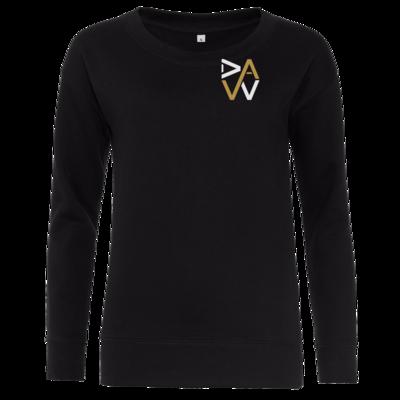 Motiv: Girlie Crew Sweatshirt - DaW-Logo Gold