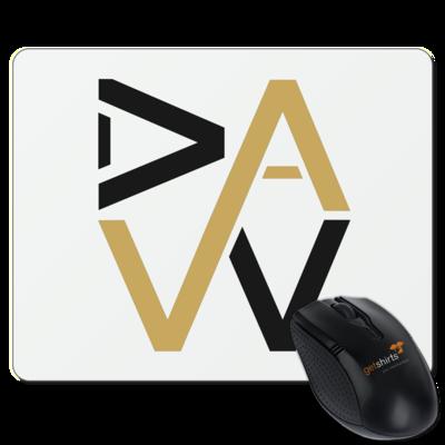 Motiv: Mousepad Textil - DaW-Logo Gold