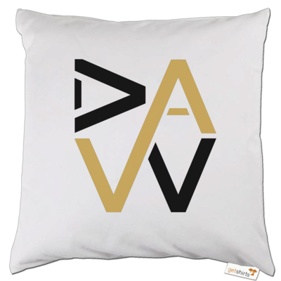 Motiv: Kissen - DaW-Logo Gold