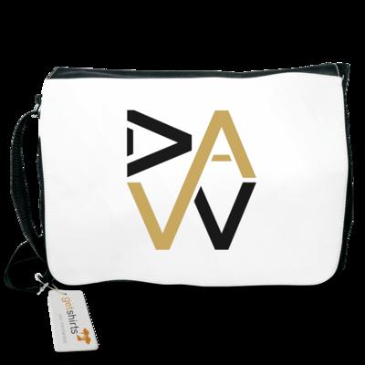 Motiv: Schultertasche - DaW-Logo Gold