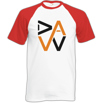 Motiv: Baseball-T FAIR WEAR - DaW-Logo Orange