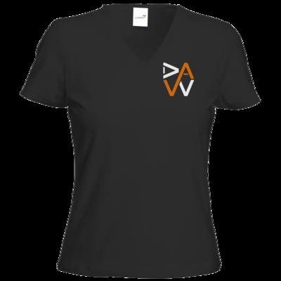 Motiv: T-Shirts Damen V-Neck FAIR WEAR - DaW-Logo Orange