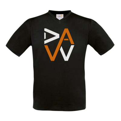 Motiv: T-Shirt V-Neck FAIR WEAR - DaW-Logo Orange