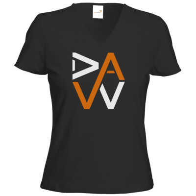 Motiv: T-Shirt Damen V-Neck Classic - DaW-Logo Orange