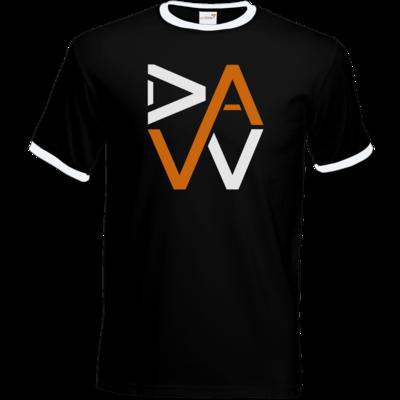 Motiv: T-Shirt Ringer - DaW-Logo Orange