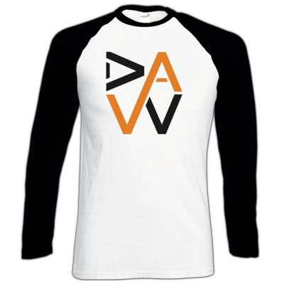 Motiv: Longsleeve Baseball T - DaW-Logo Orange
