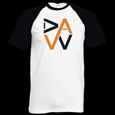 Motiv: TShirt Baseball - DaW-Logo Orange