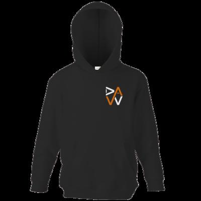 Motiv: Kids Hooded Sweat - DaW-Logo Orange