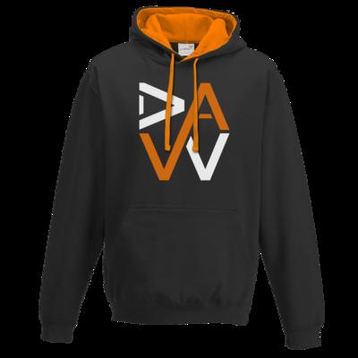 Motiv: Two-Tone Hoodie - DaW-Logo Orange
