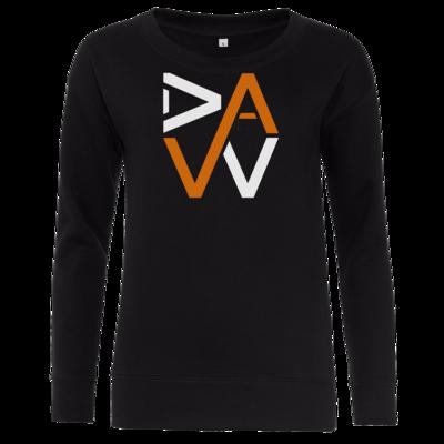 Motiv: Girlie Crew Sweatshirt - DaW-Logo Orange