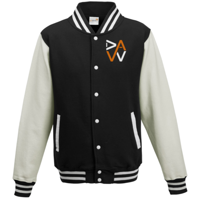 Motiv: College Jacke - DaW-Logo Orange