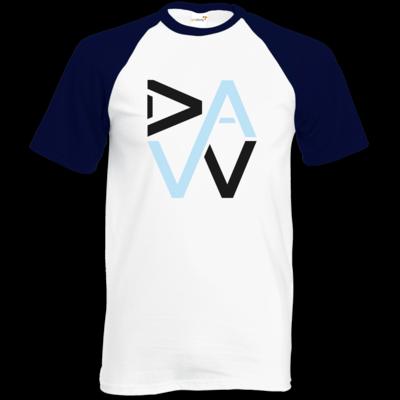 Motiv: Baseball-T FAIR WEAR - DaW-Logo Hellblau