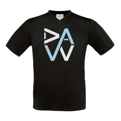 Motiv: T-Shirt V-Neck FAIR WEAR - DaW-Logo Hellblau