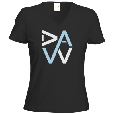 Motiv: T-Shirt Damen V-Neck Classic - DaW-Logo Hellblau