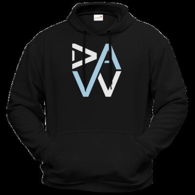Motiv: Hoodie Premium FAIR WEAR - DaW-Logo Hellblau