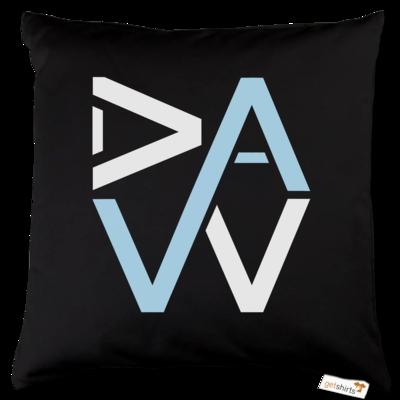 Motiv: Kissen Baumwolle - DaW-Logo Hellblau