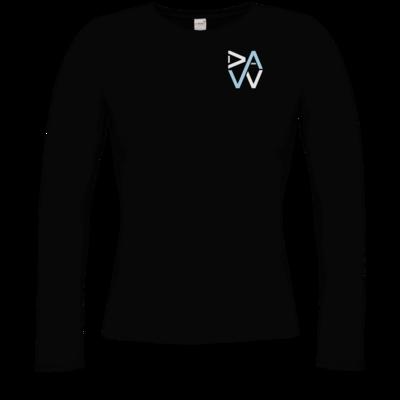 Motiv: Longsleeve Damen Organic - DaW-Logo Hellblau