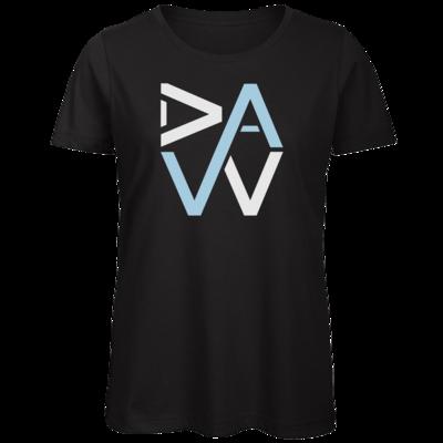 Motiv: Organic Lady T-Shirt - DaW-Logo Hellblau