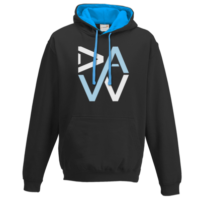 Motiv: Two-Tone Hoodie - DaW-Logo Hellblau
