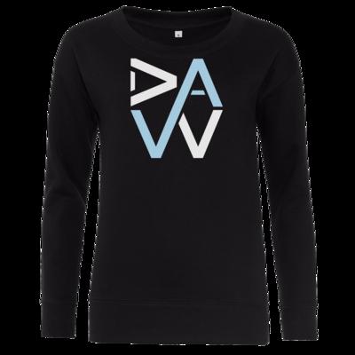 Motiv: Girlie Crew Sweatshirt - DaW-Logo Hellblau